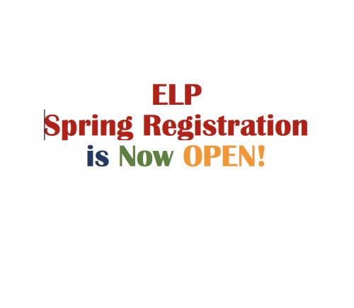 ELP Spring Registration is open image